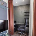 зонирование комнаты шторами идеи дизайна
