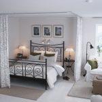 зонирование комнаты шторами интерьер дизайн