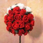 розы из салфеток топиарий