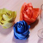 розы из салфеток фото дизайн