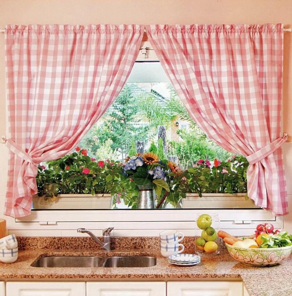 шторы своими руками для кухни