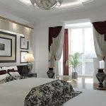 шторы в спальню с балконом идеи