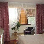 шторы в спальню с балконом идеи дизайн