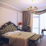 шторы в спальню с балконом интерьер фото