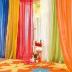 тюль в детскую разноцветный