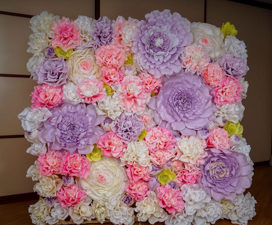 цветы из салфетки фотозона