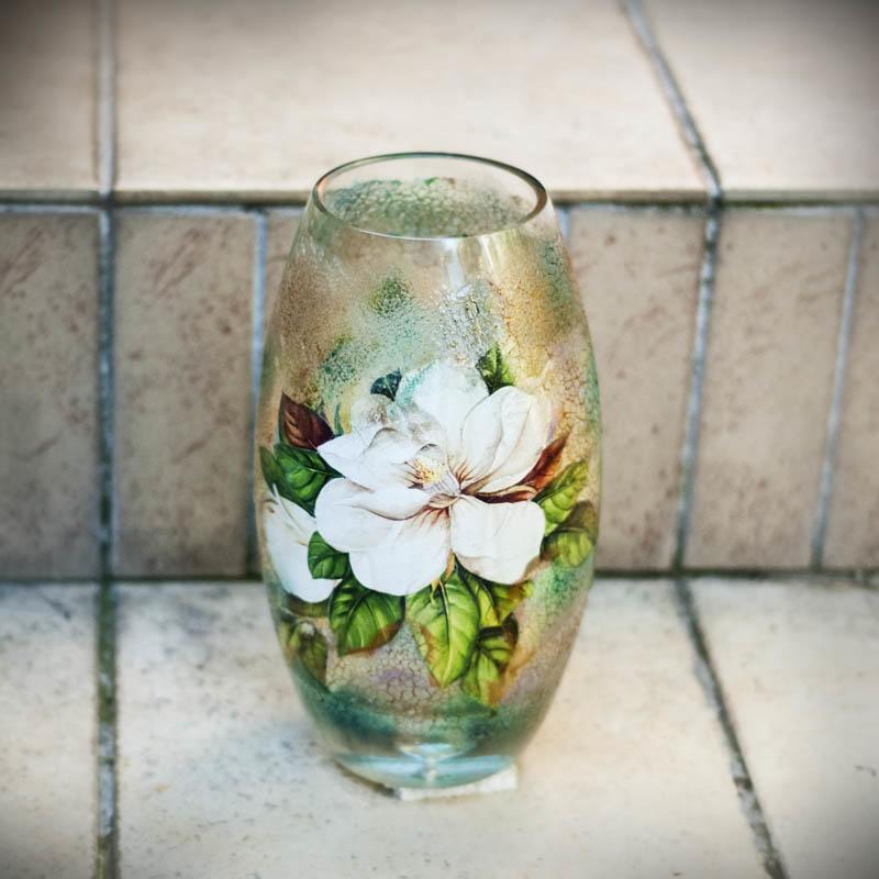 декор вазы наклейками