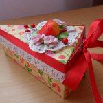 декорирование коробок в виде торта