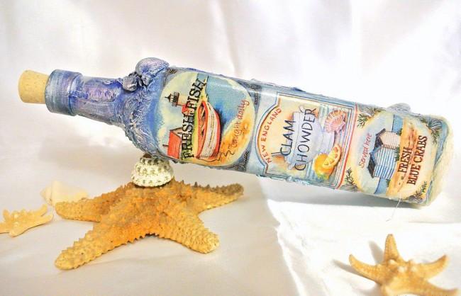 декупаж бутылок своими руками фото дизайна