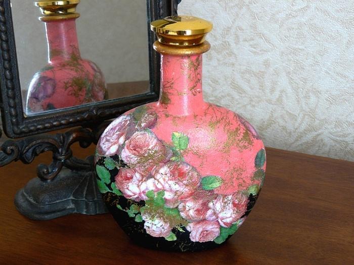 декупаж бутылок декор идеи