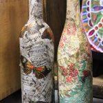 декупаж винных бутылок идеи дизайна