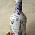 декупаж винных бутылок идеи вариантов