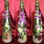 декупаж винных бутылок оформление