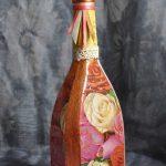 декупаж винных бутылок своими руками дизайн идеи