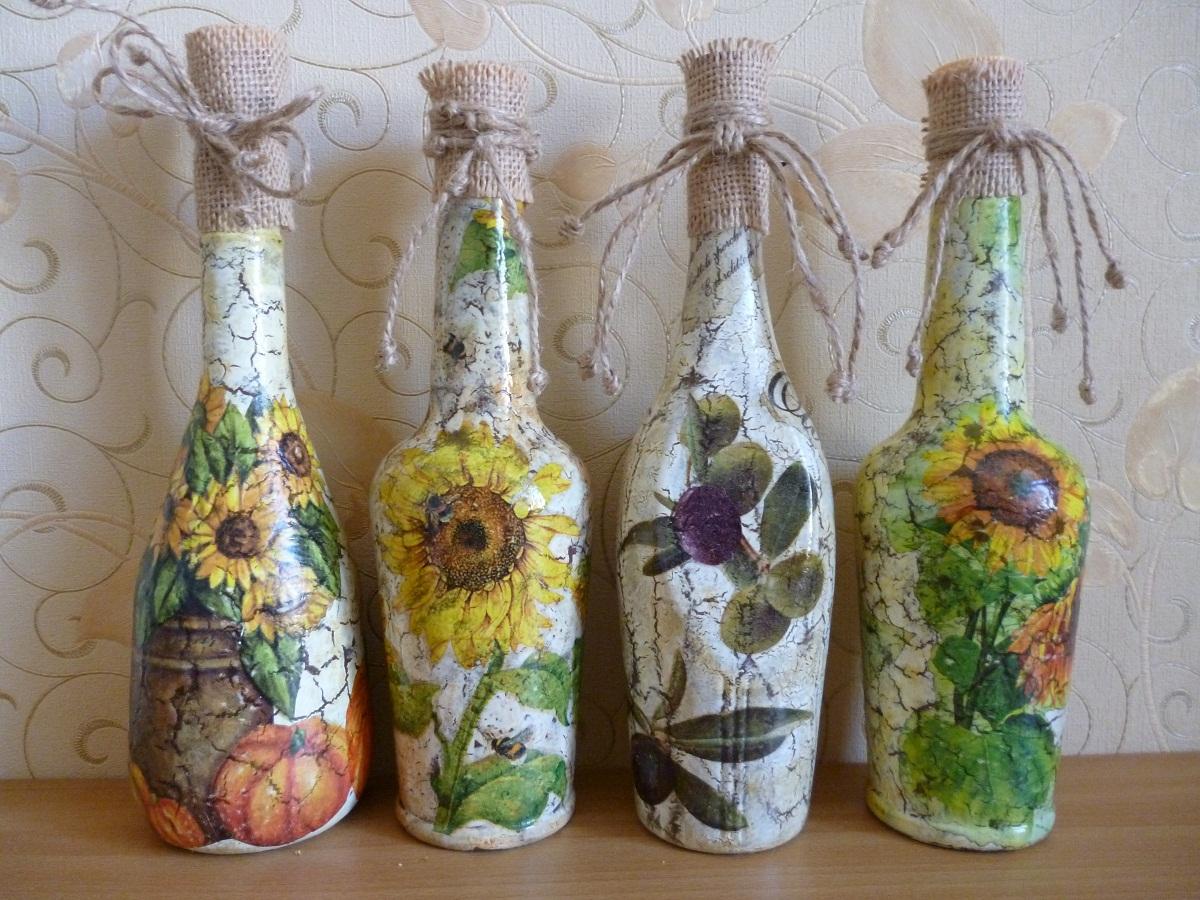декупаж бутылок дизайн