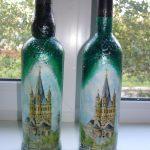 декупаж винных бутылок своими руками фото декора