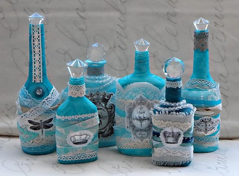 декупаж бутылок оформление идеи