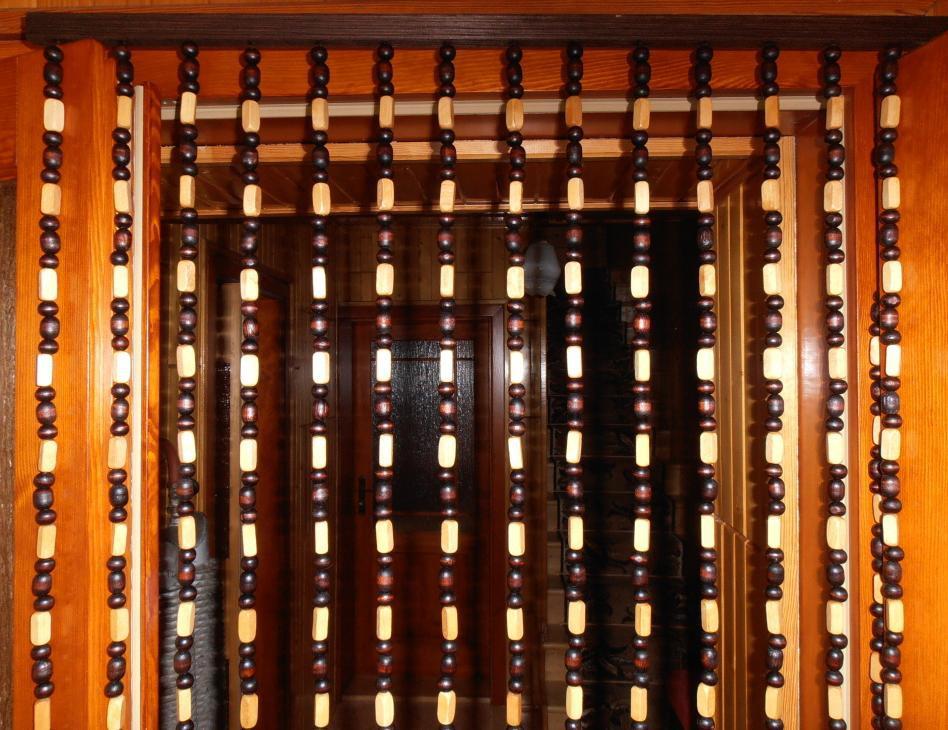 деревянные занавески фото