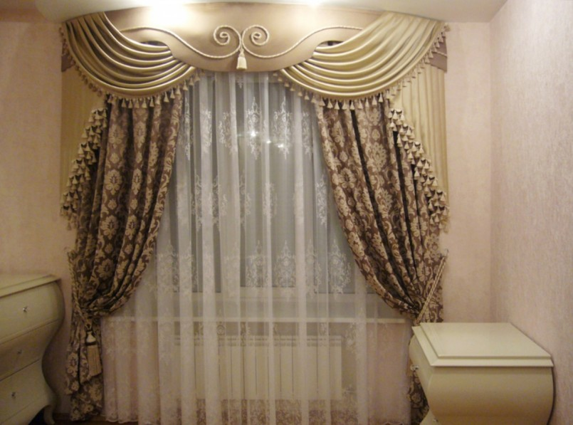 как декорировать шторы дизайн фото
