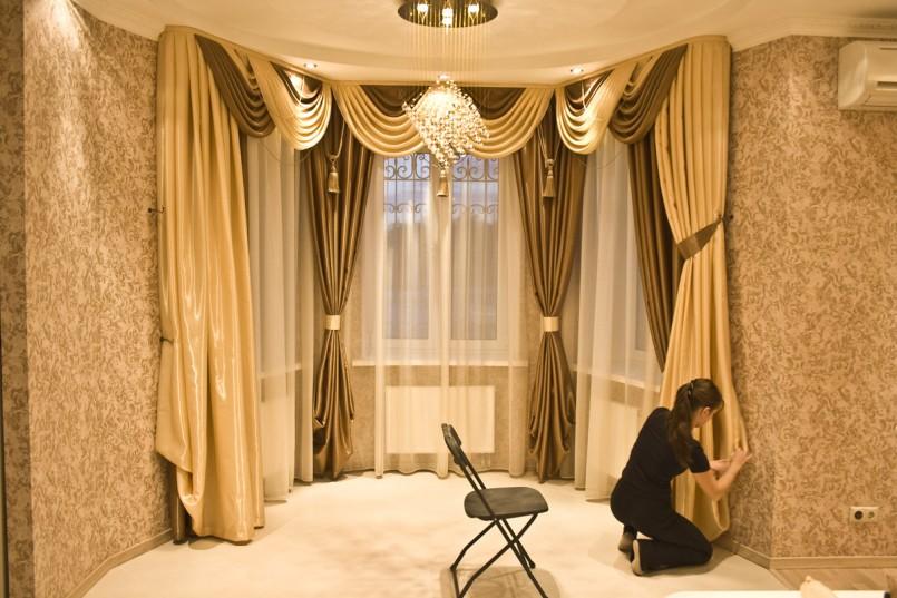 как декорировать шторы фото дизайн