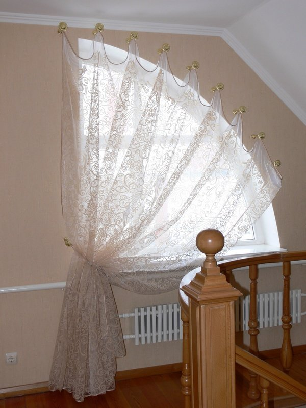 как повесить шторы без карниза интерьер идеи