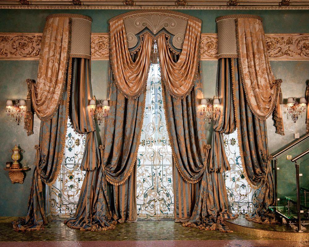 как сшить шторы императорские