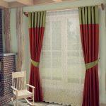 комбинированные шторы фото интерьер