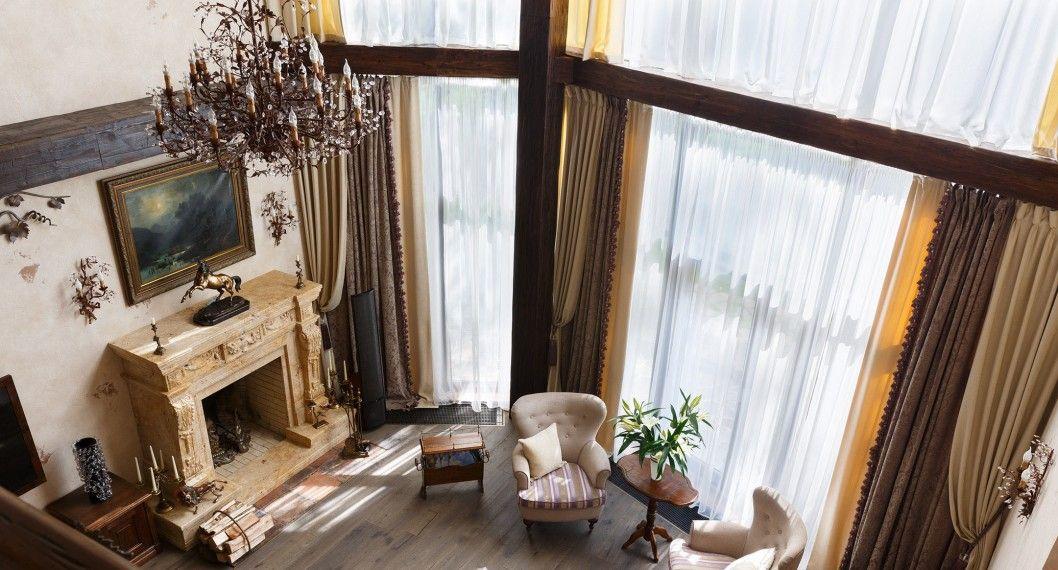 комбинированные шторы фото вариантов