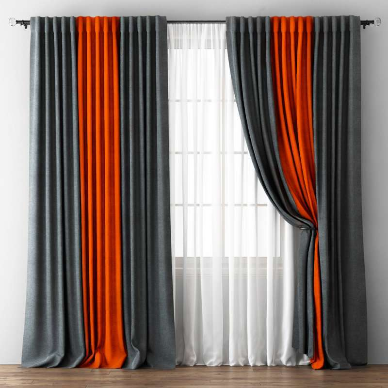 комбинированные шторы интерьер идеи