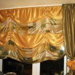 комбинированные шторы в интерьере