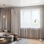 комбинированные шторы в интерьере декор фото