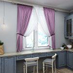 комбинированные шторы в интерьере фото декор