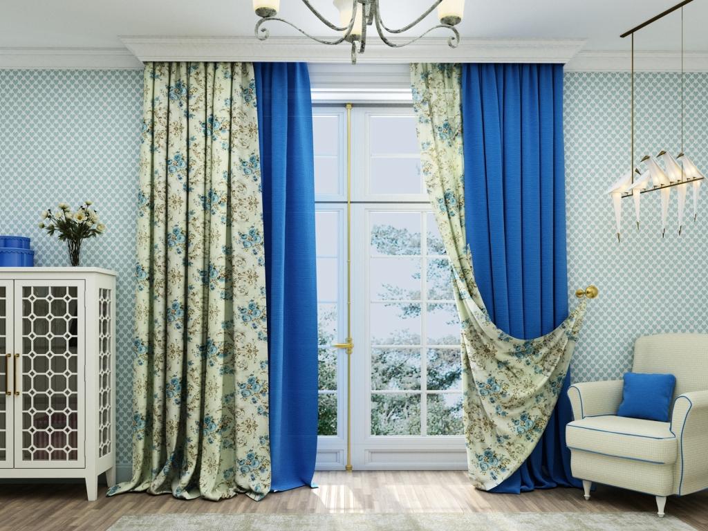 комбинированные шторы фото декора
