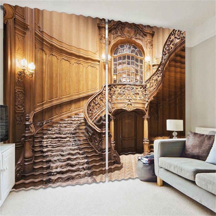 зд шторы коричневые
