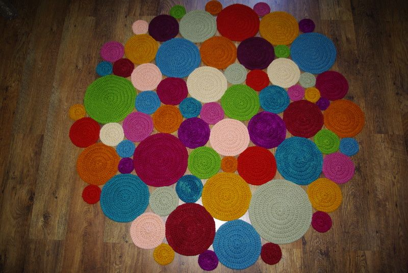коврик из кругов