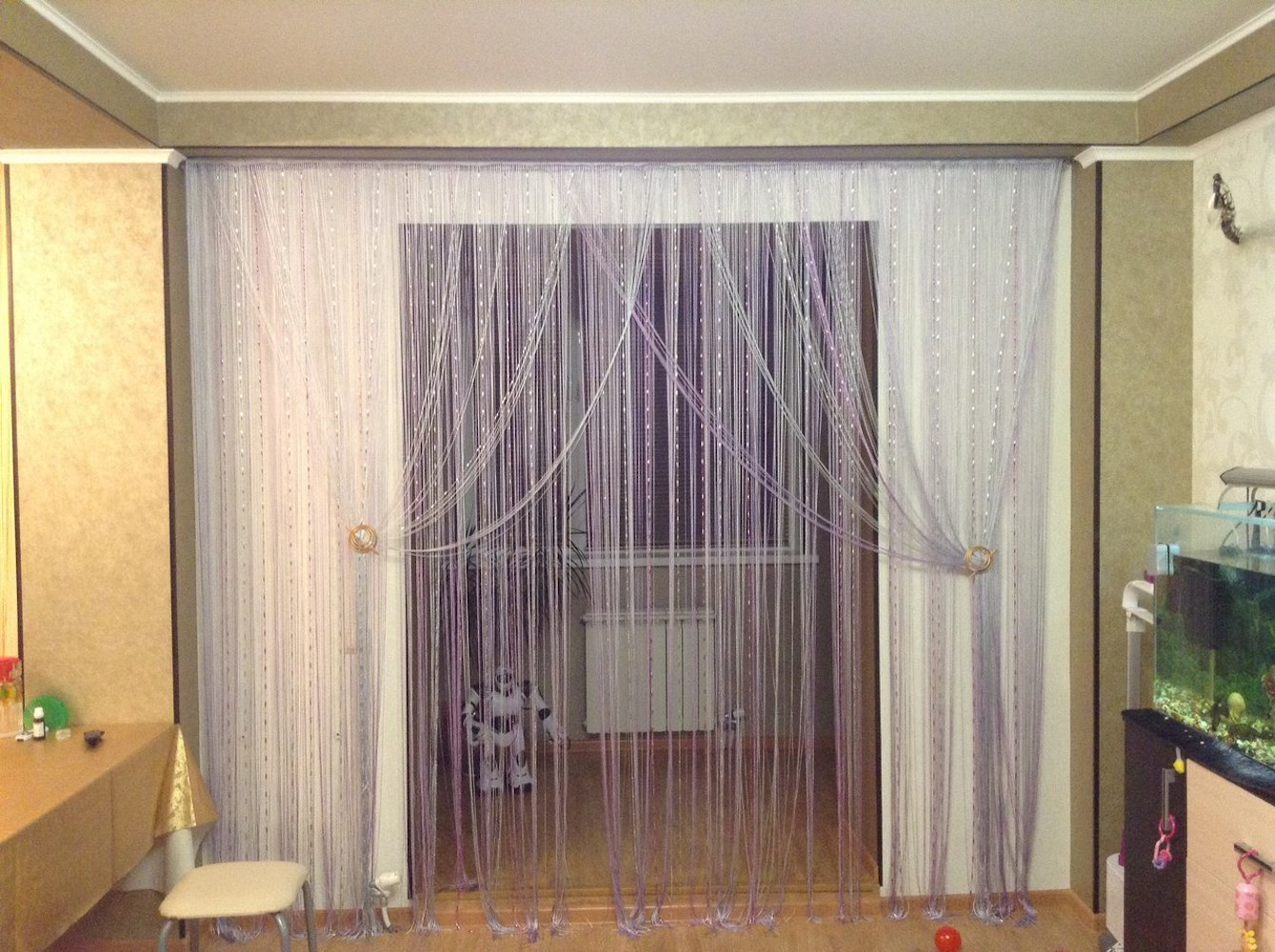 межкомнатные шторы веревочные
