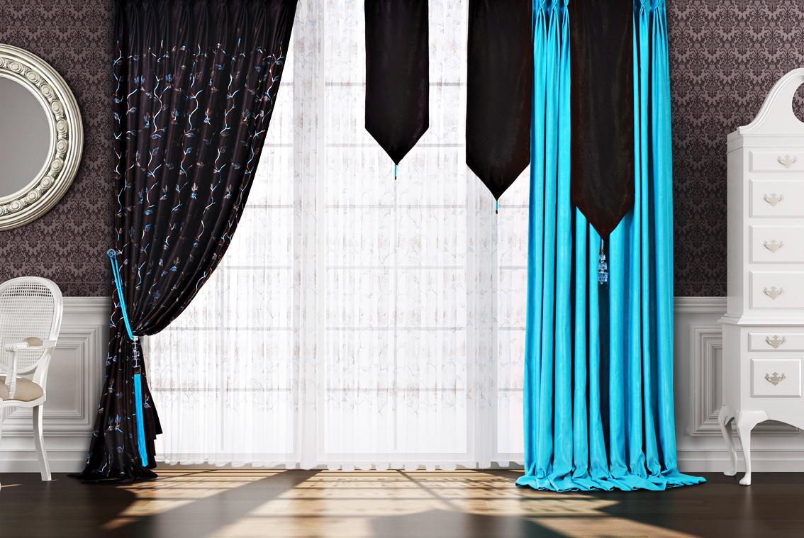 необычные шторы фото