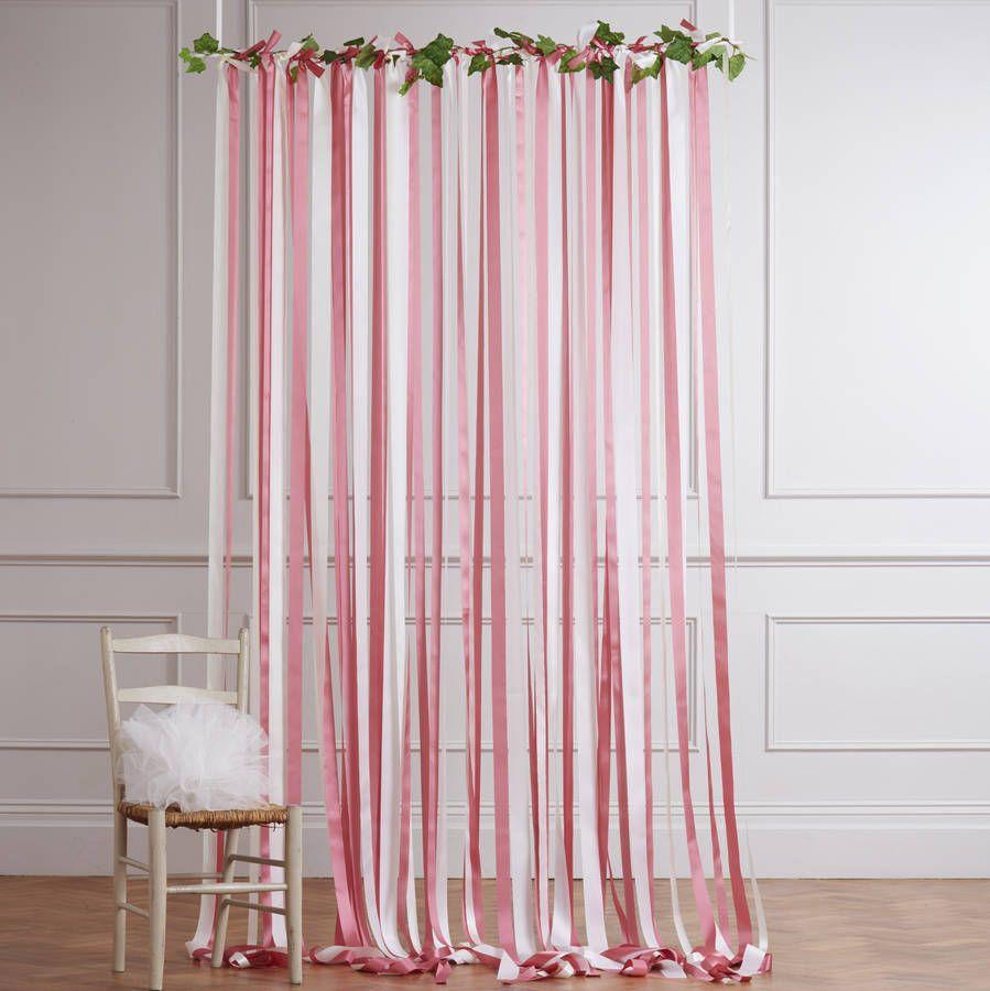 необычные шторы из ленточек