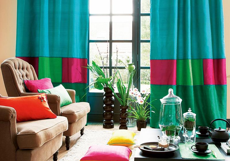 необычные шторы комбинированные