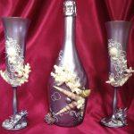 оформление бутылок шампанского на свадьбу