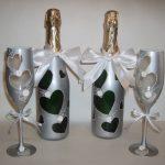 оформление бутылок шампанского на свадьбу дизайн фото