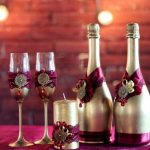 оформление бутылок шампанского на свадьбу дизайн