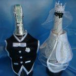 оформление бутылок шампанского на свадьбу фото дизайна