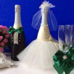 оформление бутылок шампанского на свадьбу идеи