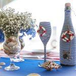 оформление бутылок шампанского на свадьбу варианты