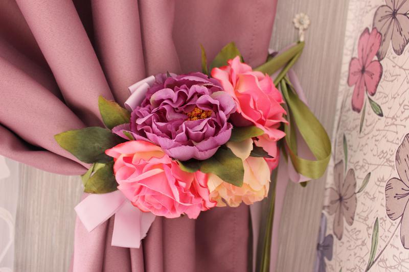 подхваты для штор из цветов