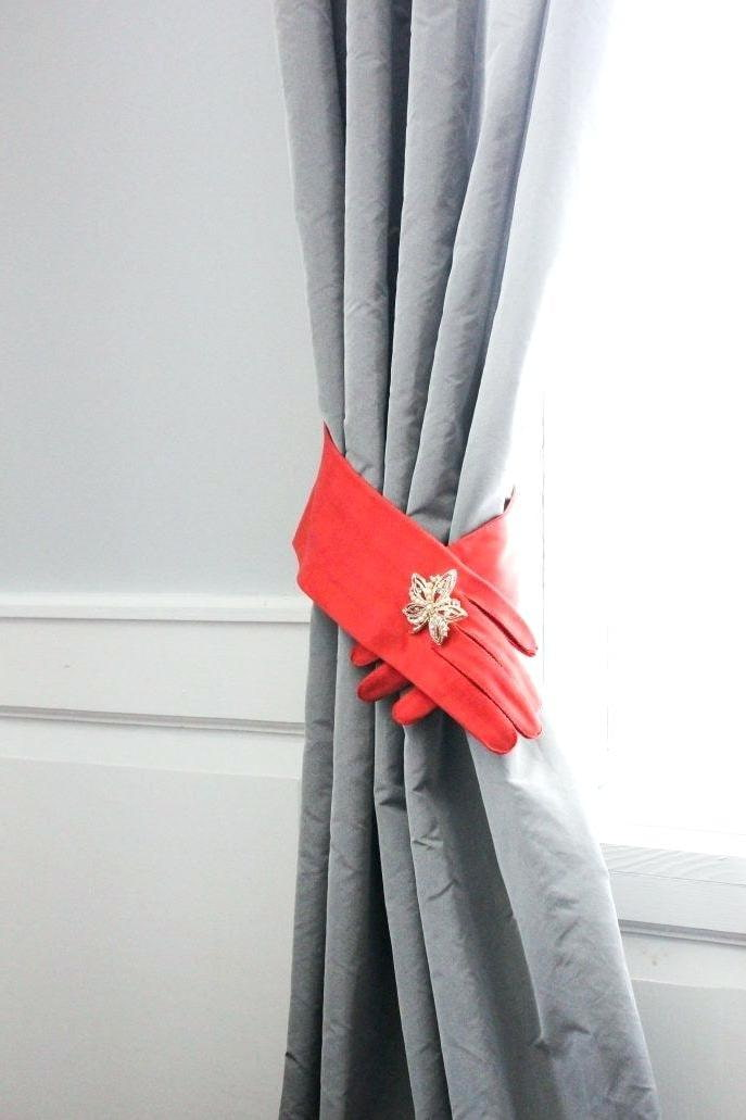 подхваты для штор из перчаток