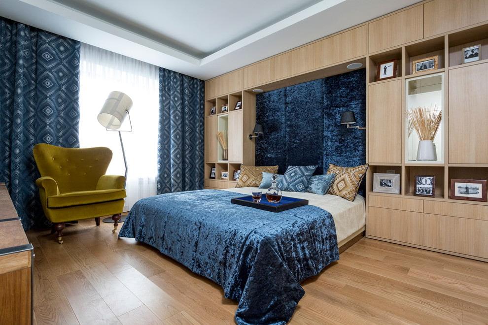ширина штор для спальни
