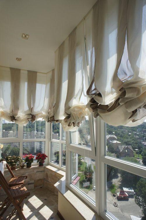 шторы на панорамные окна декор