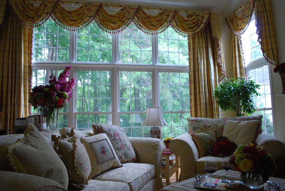 шторы на панорамные окна фото декора
